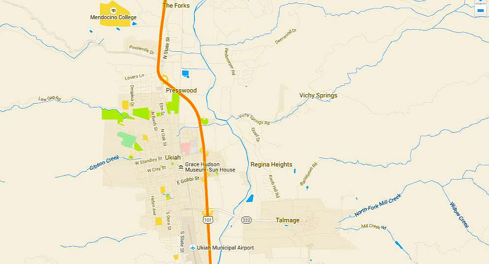 Mendocino College Campus Map.City Of 10 000 Buddhas Map