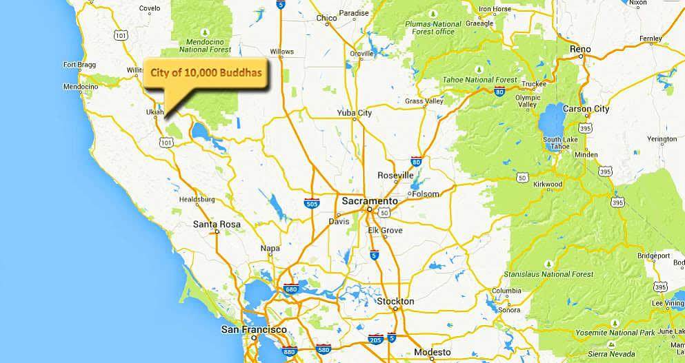 City of 10000 Buddhas Map